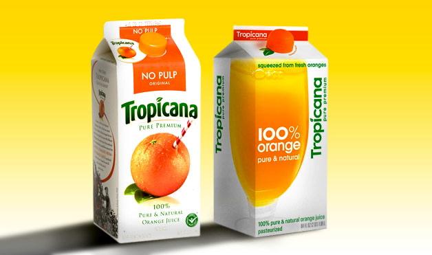 Logo & Packaging Design Makeover | Tropicana Orange Juice