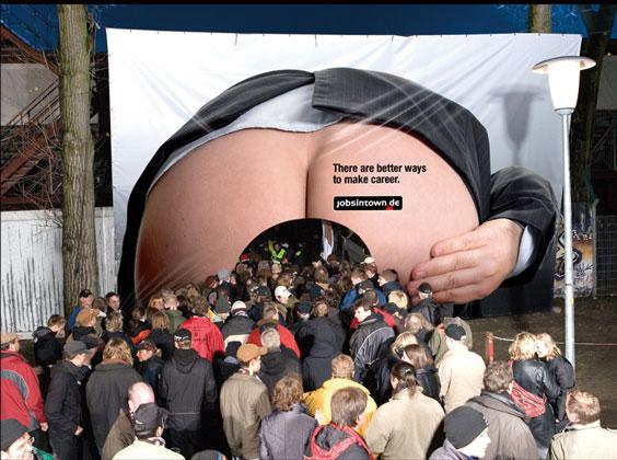 An ad for German job site, www.jobsintown.de , went beyond the oft ...