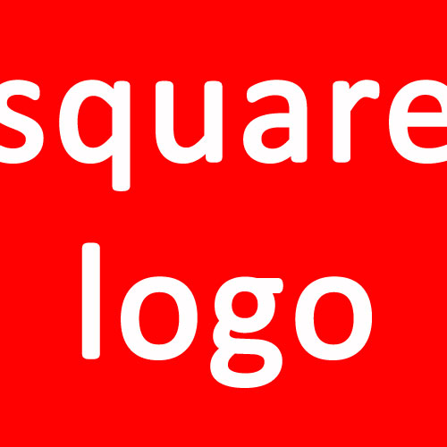 what is the red square with a white letter on it on logos