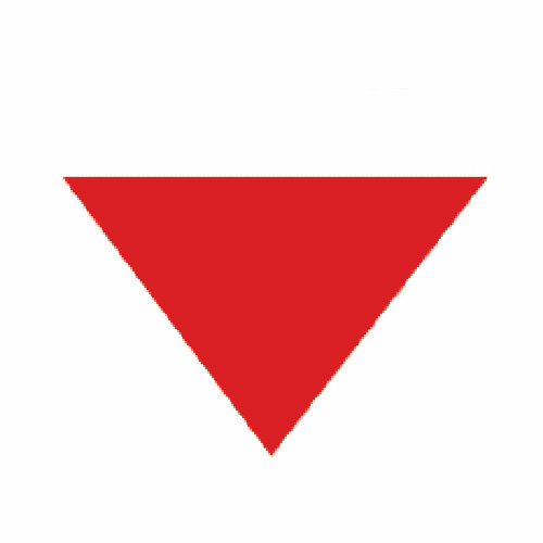 logo corporate identity red triangle doppelg228ngers 3